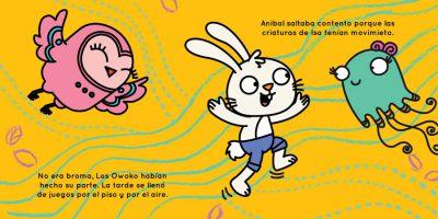 Owl, bunny and jelly fish dance of joy - Lechuza, conejo y medusa bailan de alegria