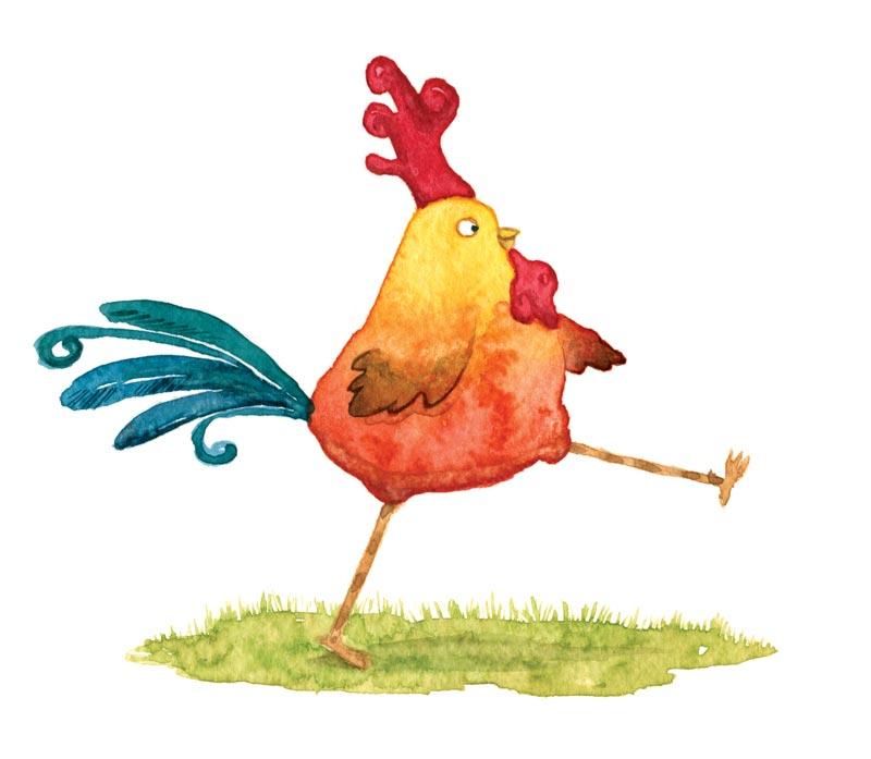 Cartoon rooster character - Personaje caricatura de un gallito