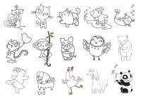 Animales cartoon de Lucia Vidal